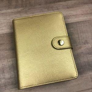 Kikki K Gold Small Pocket Planner Agenda Leather